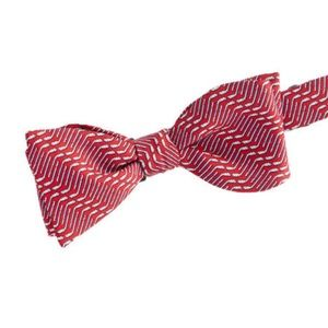 VINEYARD VINES Red HOCKEY GEO Bow Tie